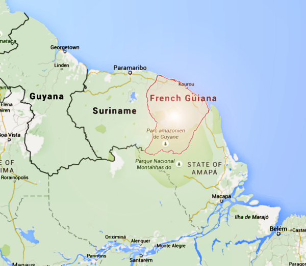 French Guiana Map